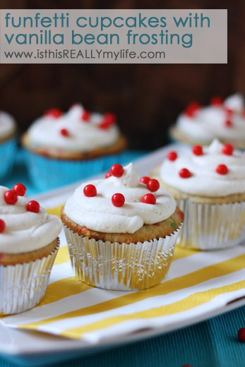 Funfetti cupcakes with vanilla bean frosting