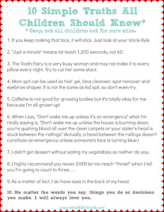10 Simple Truths All Children Should Know