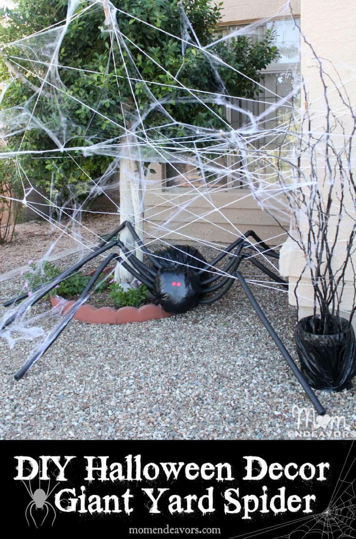 DIY Halloween decor giant spider