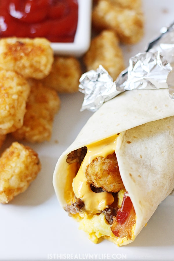 Copycat Sonic Ultimate Meat & Cheese Burrito - This copycat Sonic Ultimate Meat & Cheese Burrito recipe comes as close to the drive-thru original as possible. Don't forget to throw in an extra side of tots!   halfscratched.com