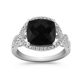 Shane Co black sapphire ring