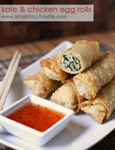 White on Rice Kale and Chicken Egg Rolls
