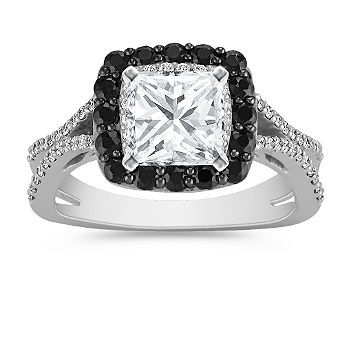 Black sapphire engagement ring from Shane Co.