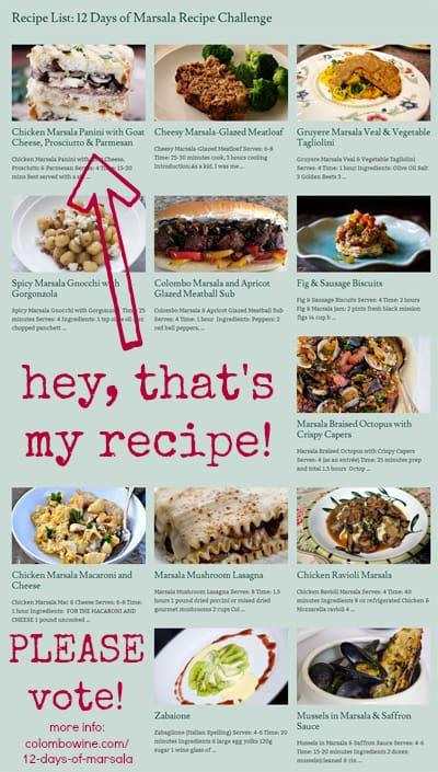 12 Days of Marsala Recipe Challenge