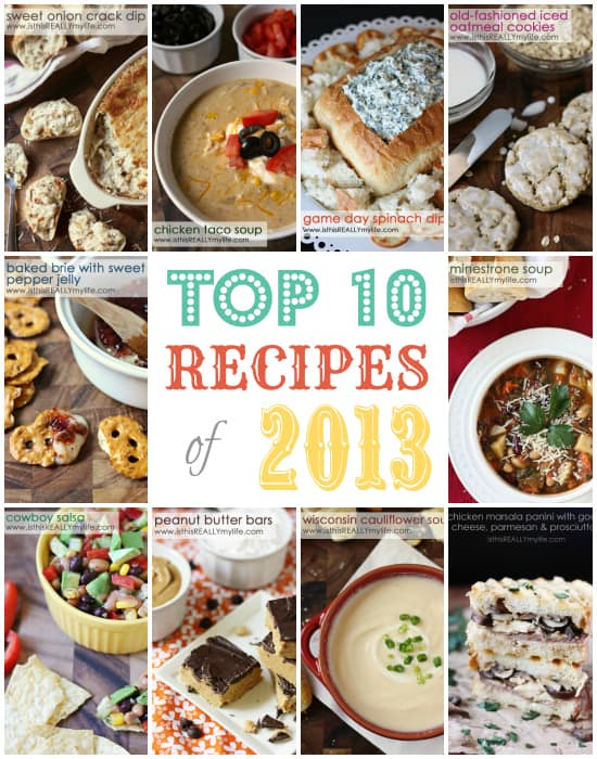 Top 10 Recipe Posts 2013