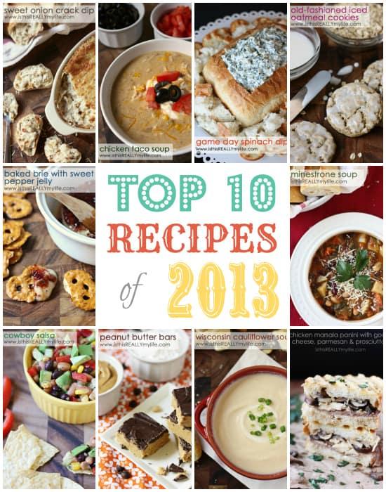 Top 10 Recipe Posts 2013