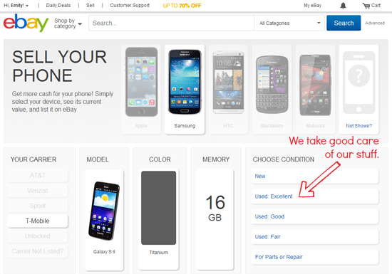 sell your phone on eBay