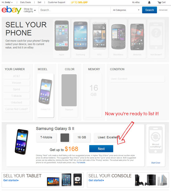 how to sell your phone on eBay