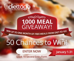 Diet to Go 1000 meal giveaway