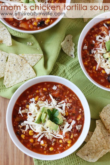 Mom's Chicken Tortilla Soup