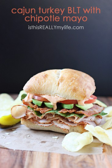 Cajun turkey BLT with chipotle mayo