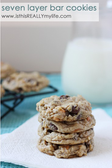 Seven layer bar cookies
