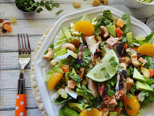 Key West grilled chicken salad