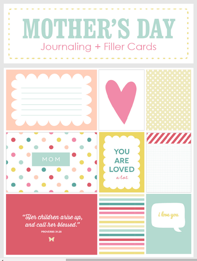 Mother s Day Journaling and Filler Cards