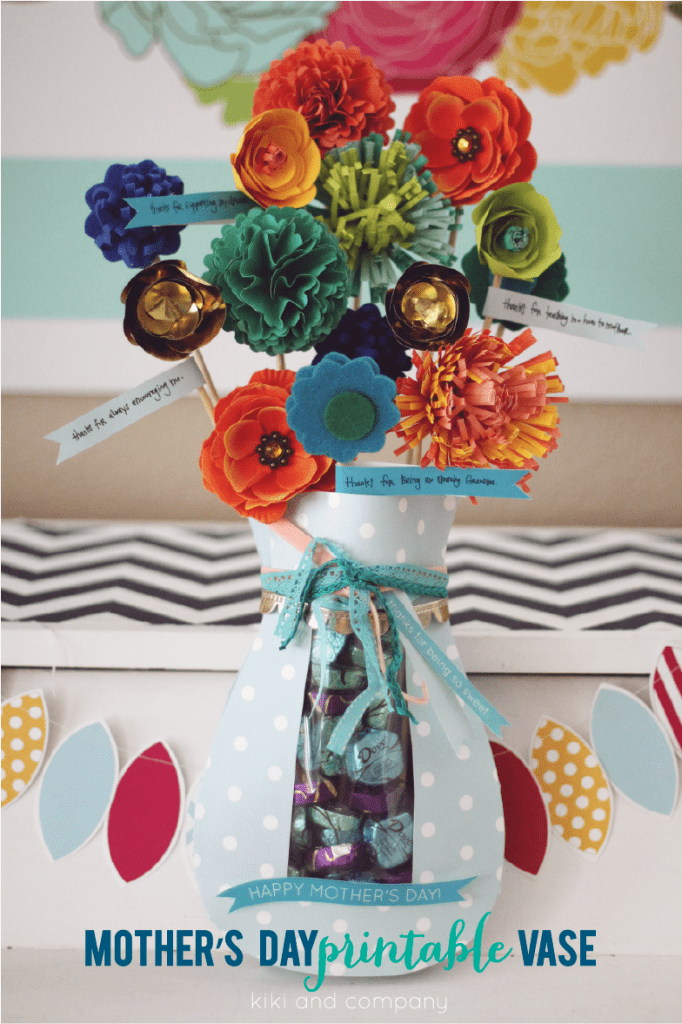 Mother's Day printable vase