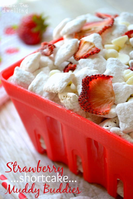 Strawberry shortcake muddy buddies