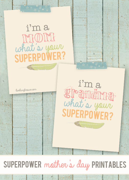 Superpowers Mother's Day printable