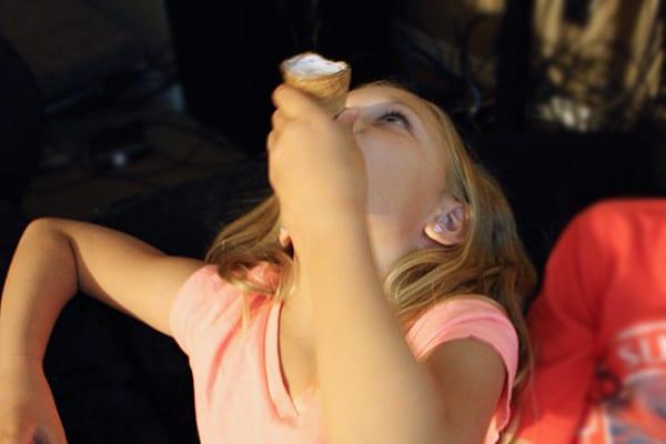 Family movie night with Mars Ice Cream