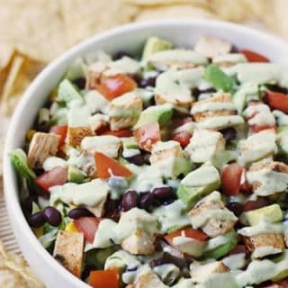 Tequila lime chopped chicken salad