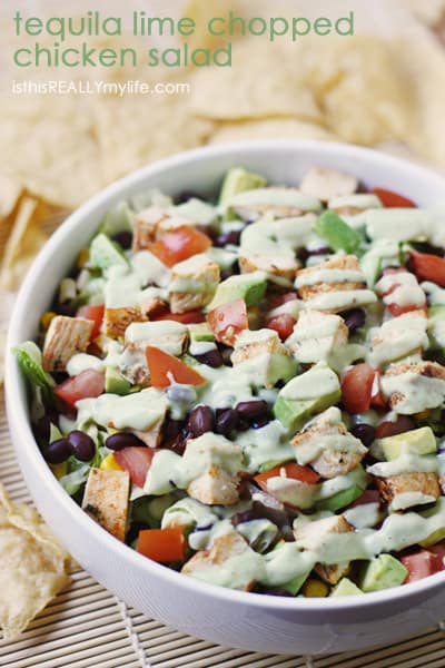 Tequila Lime Chopped Chicken Salad | Half-Scratched