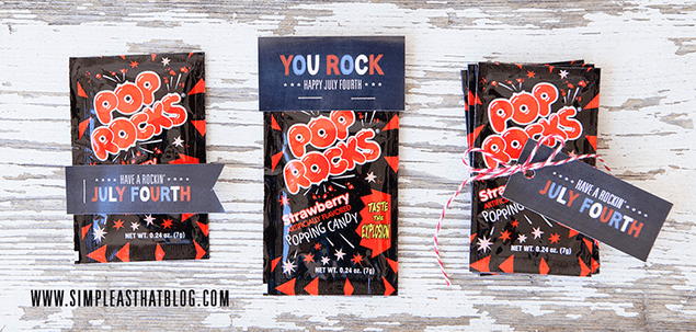 Pop Rocks printable gift tags