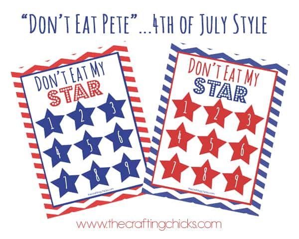 don't eat pete don't eat the star 4th of july printable