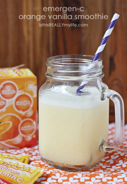 Emergen-C orange vanilla smoothie
