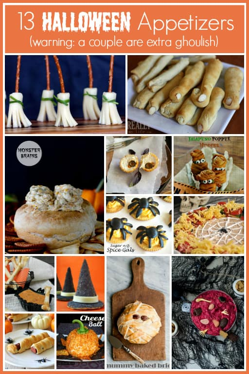 Halloween appetizers (warning: a couple are extra ghoulish)