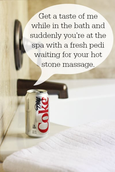 Diet Coke in the bath