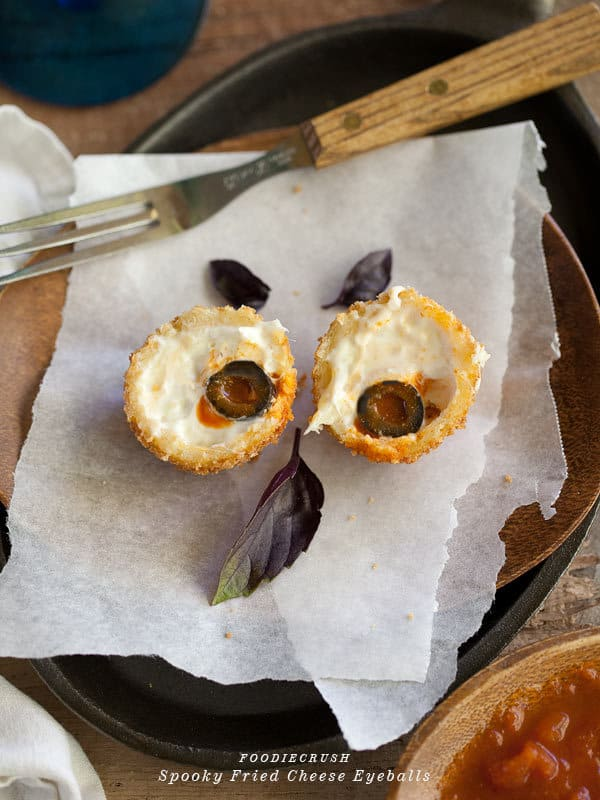 fried mozzarella eyeballs