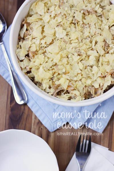 Mom's tuna casserole