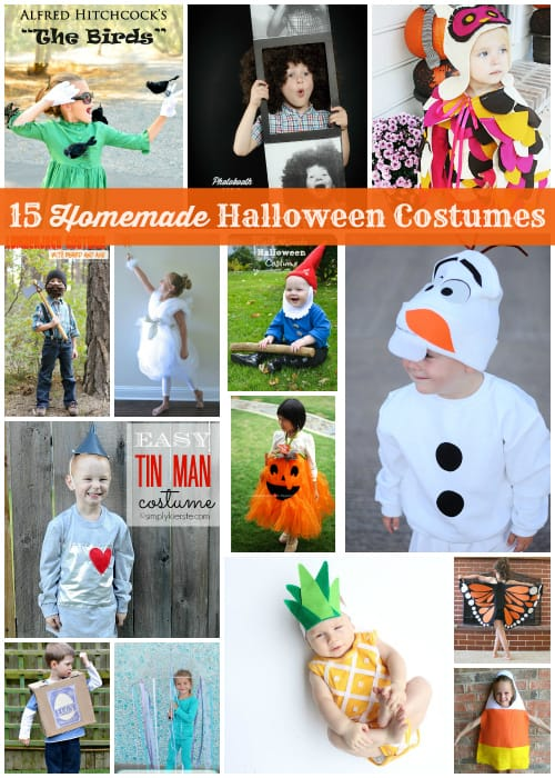 15 (mostly no-sew) homemade Halloween costumes