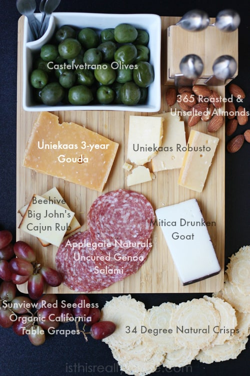 Holiday cheese platter diagram