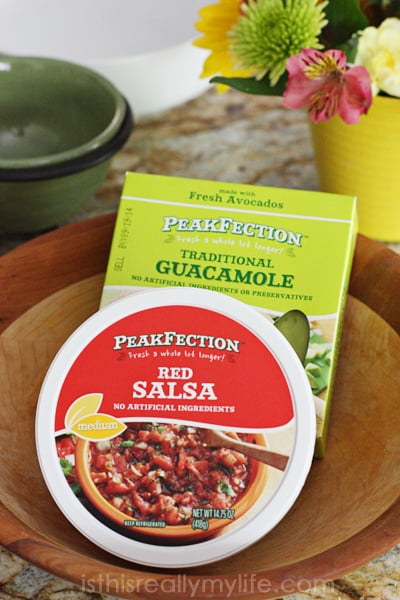 PeakFection from Kroger - fresh salsa and guacamole