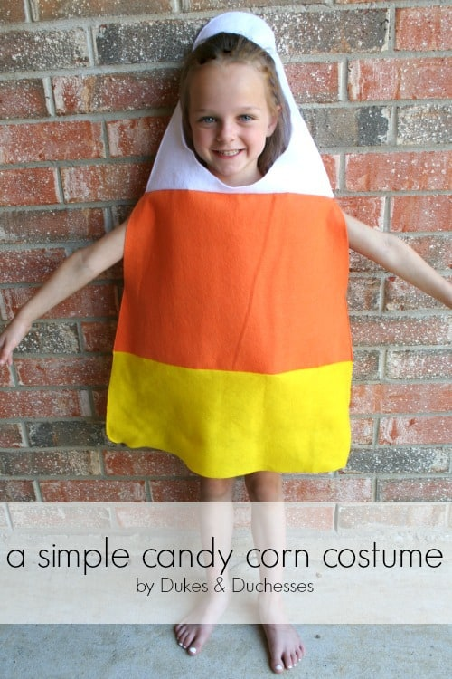 candy corn homeamde Halloween costume