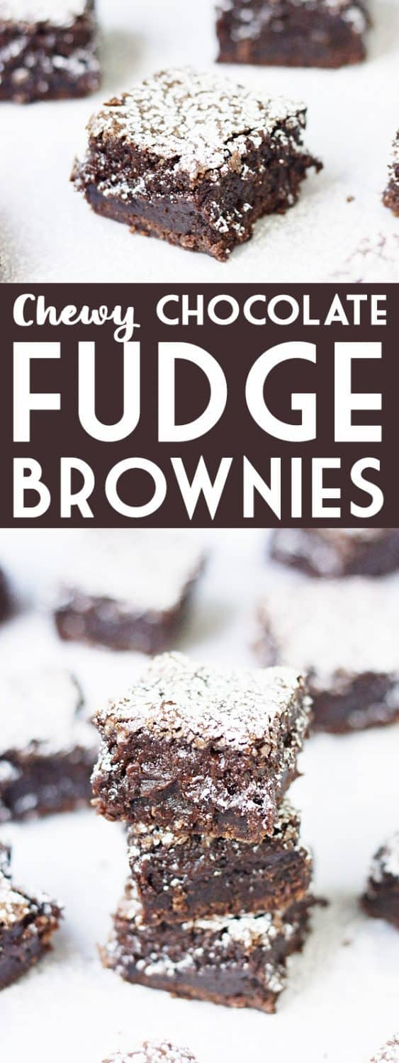Chew Chocolate Fudge Brownies -- These chewy chocolate fudge brownies are the most decadent I have tasted. I am all about rich, chocolate brownies--the chewier and fudgier, the better! | isthisreallymylfie.com #brownies