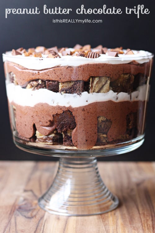 Peanut butter chocolate trifle - if you love peanut butter AND chocolate trifle, you must make this ASAP.