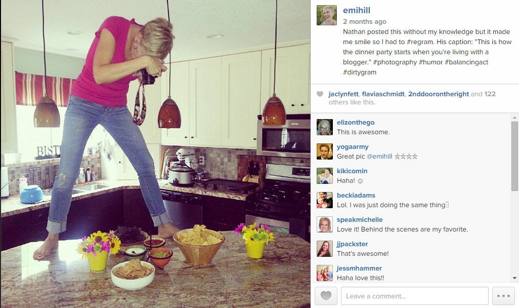 emihill on Instagram -- behind the scenes of a recipe shoot. Caught by my husband. #instagram #photography
