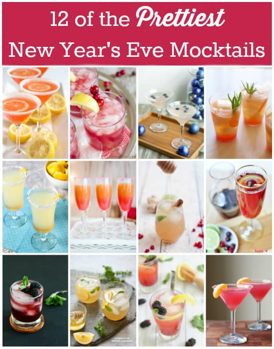 12 of the Prettiest New Years Eve Mocktails