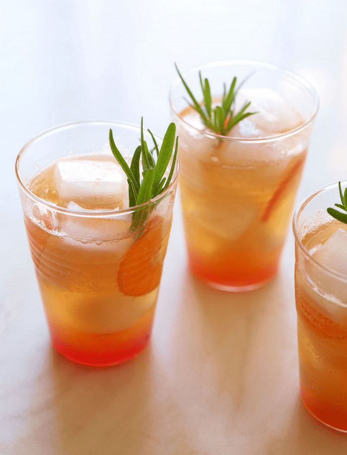 Cranberry Tangerine Rosemary   Cream Soda Mocktail