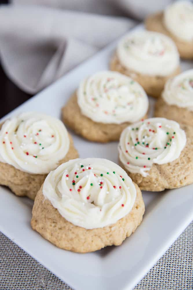 frosted honey Christmas cookies
