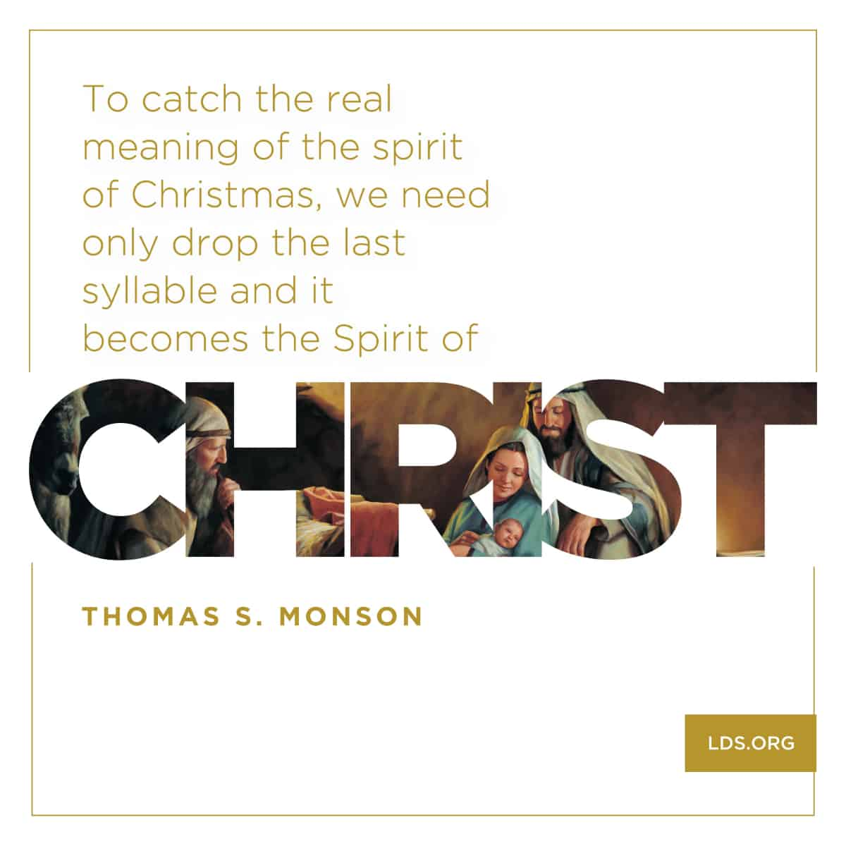 The real meaning of the spirit of Christmas