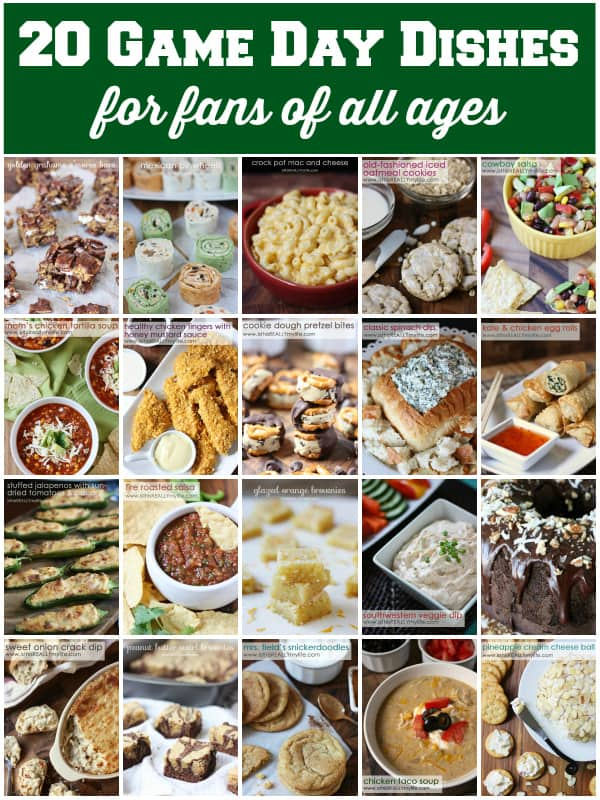 Super Bowl Party Food - 20 game day dishes for fans of all ages