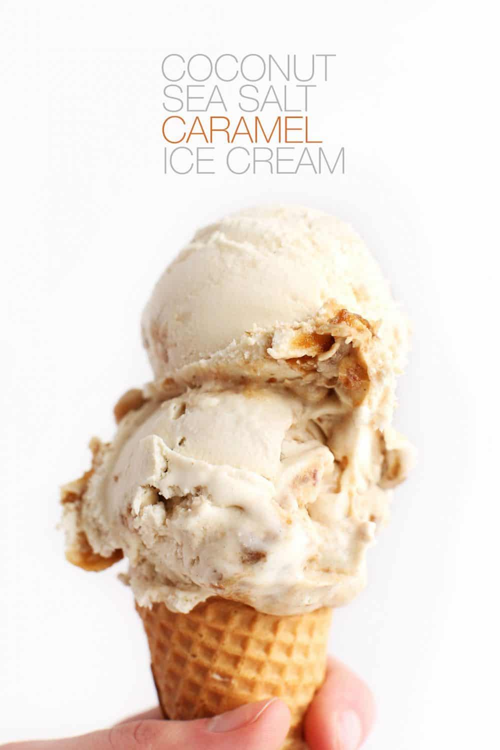 Sea salt caramel coconut ice cream