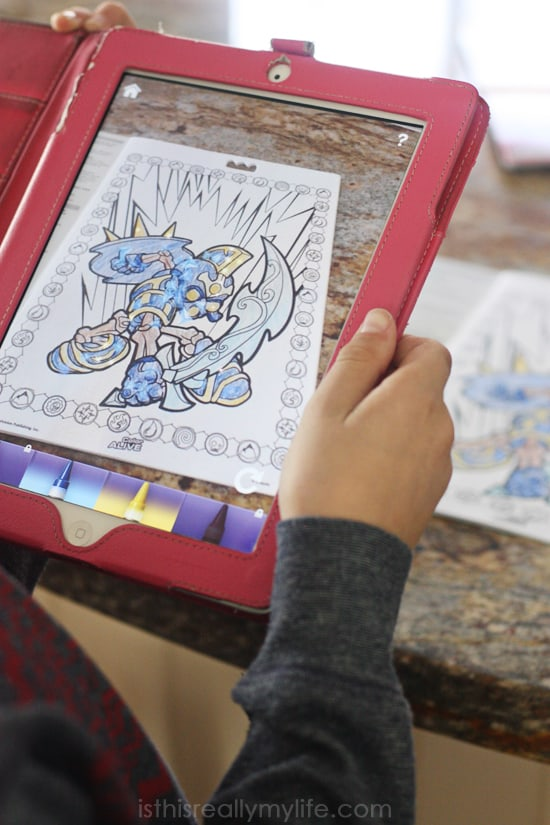 Crayola Color Alive review - the Color Alive app brings characters to life. My kids absolutely loved Color Alive!