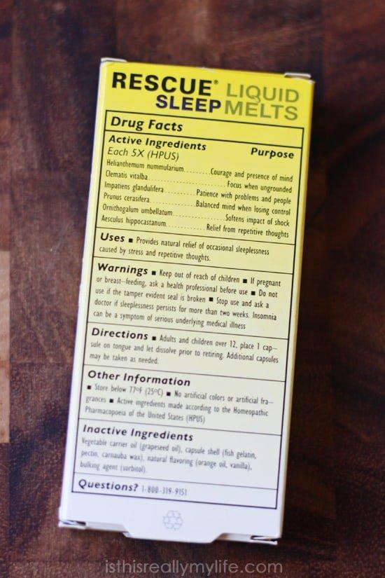 RESCUE Sleep Liquid Melts review