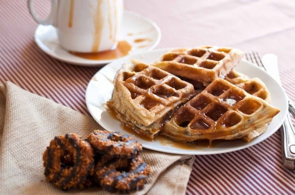 Girl Scout cookie recipes Samoa waffles