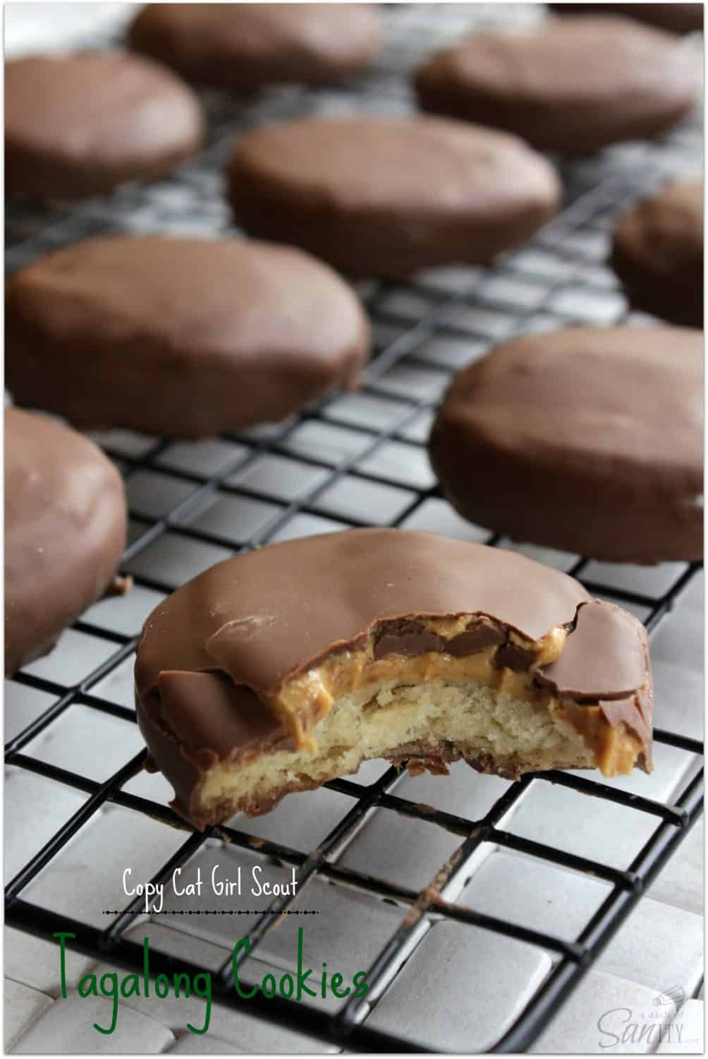 Copycat Girl Scout Tagalong cookies recipe