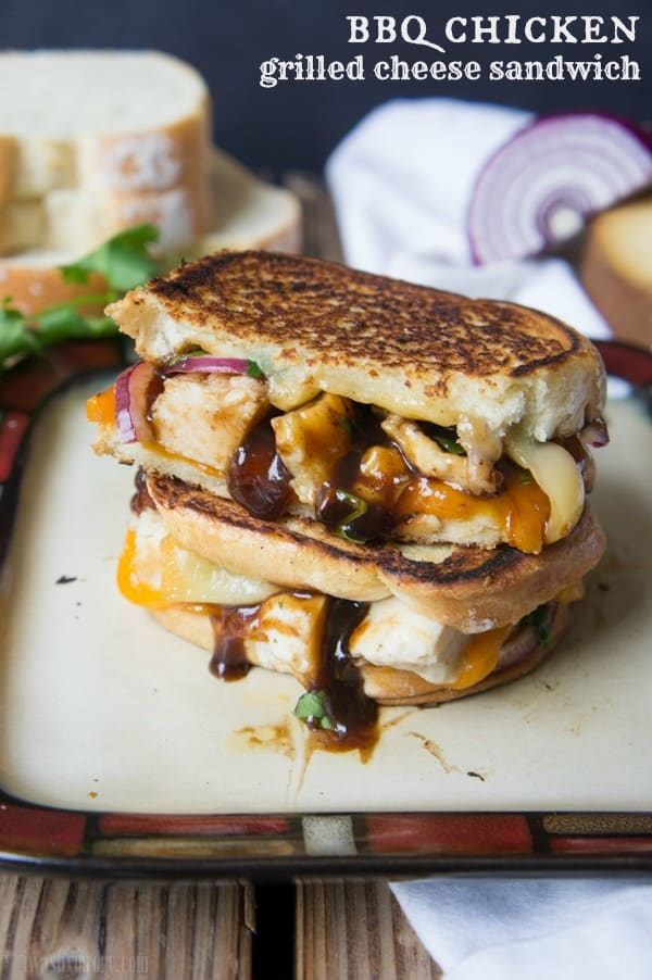 BBQ chicken grilled cheese sandwich from I Wash You Dry