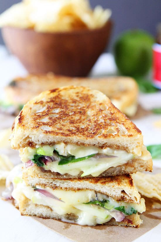 Brie Fig and Apple Grilled Cheese